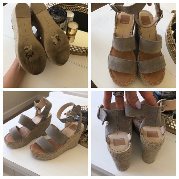 22075551e66d Dolce Vita Shoes - Shae Wedge Sandal Grey 7.5 fits like 8